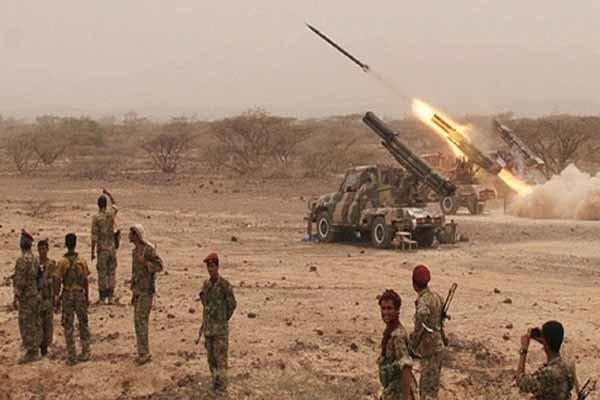 مقابله پدافند هوایی ارتش یمن با جنگنده های ائتلاف سعودی