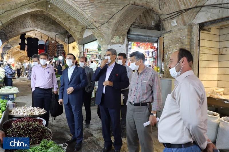 تاسیسات الکترونیکی بازار تاریخی زنجان سامان دهی می شود