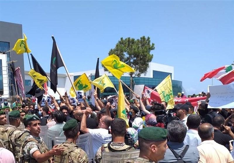 تظاهرات در لبنان در محکومیت اقدامات موهن فرانسه علیه پیامبر اکرم(ص)