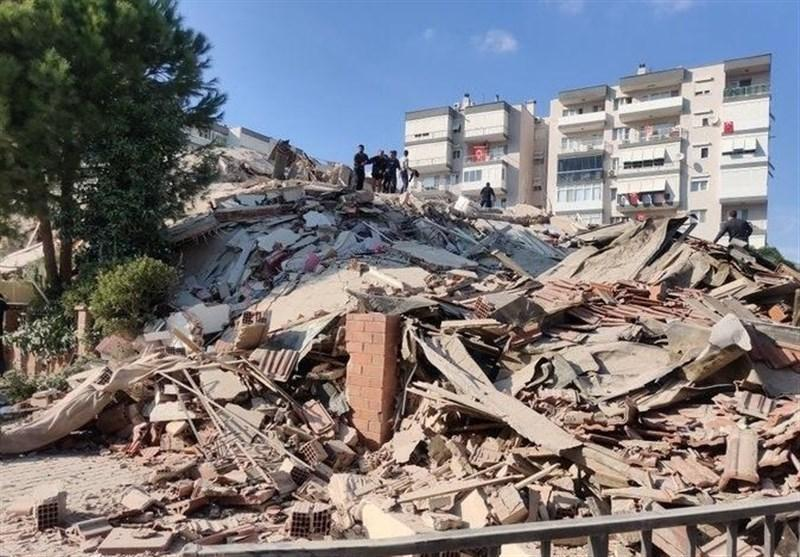 زمین لرزه 6.6 ریشتری در ازمیر ترکیه، 4 کشته و 152 زخمی