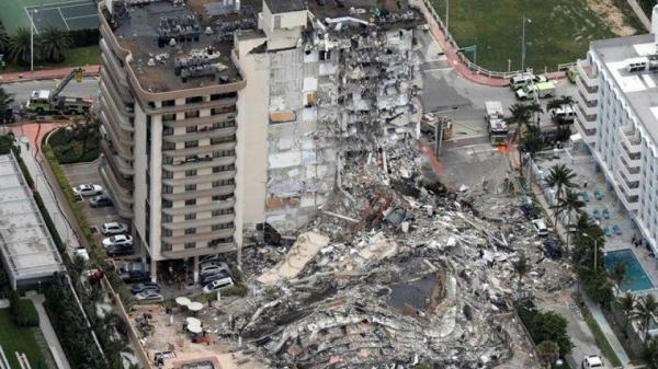 مفقود شدن بیش از 100 نفر درپی ریزش ساختمانی درآمریکا