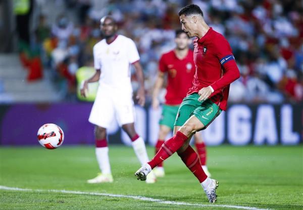 تور ارزان قطر: فزونی پرتغال مقابل قطر در دیداری محبت آمیز، رونالدو با عبور از رکورد راموس تاریخ ساز شد